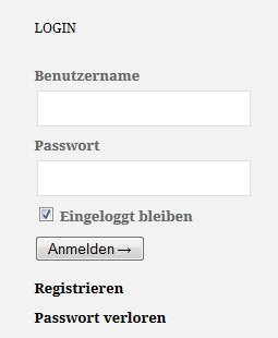 Eingabefeld zum Einloggen oder Registrieren