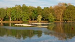 Steinaufschüttung am unteren Wöhrder See
