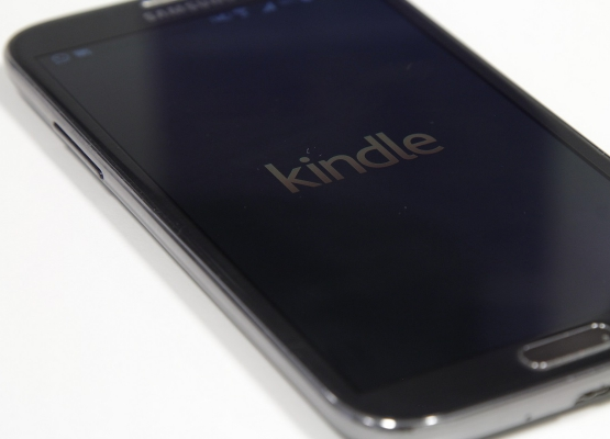 Das App von Kindle auf einem Smartphone