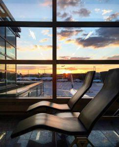 Entspannen am Flughafen