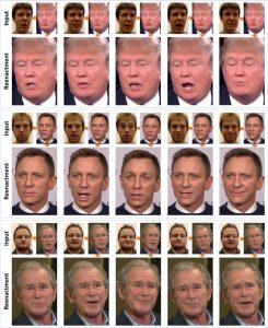 Beispiele für Face2Face mit bekannten Persönlichkeiten