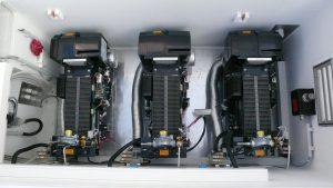 In dem Forschungsboot SOLGENIA sind insgesamt drei Wasserstoff-Brennstoffzellen verbaut – jede leistet 1,2 Kilowatt. Quelle: HTWG Konstanz