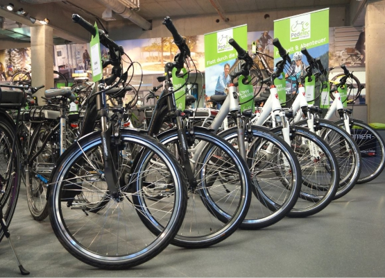große Auswahl bei Elektrofahrrädern
