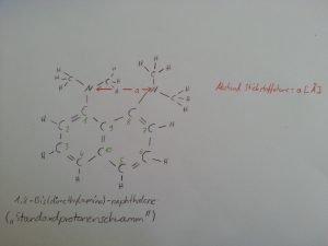 Struktur des Protonenschwamms