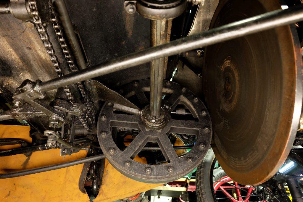 Maurer-Union Doktorwagen mit Reibrad-Getriebe, Ansicht von unten