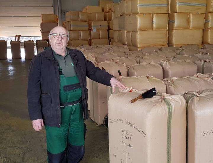Hans Zeiner erklärt, was den Hopfen anspruchsvoller macht als andere Getreide