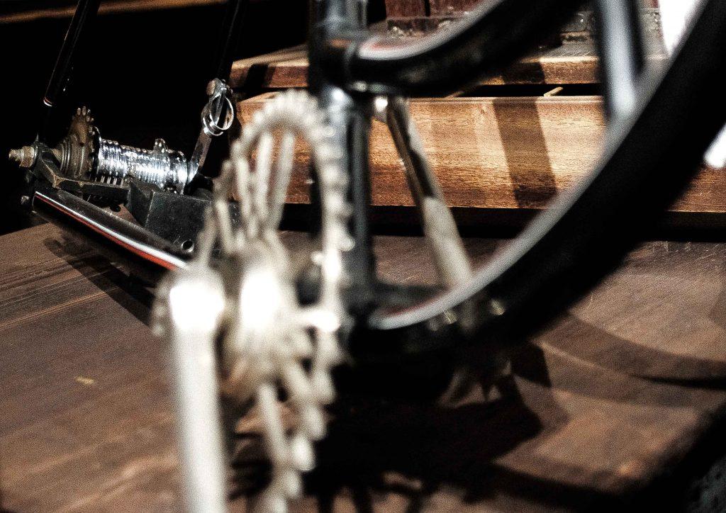 Fahrrad mit eingebauter Nabe